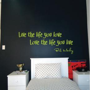 Bob Marley Wall Quote Sticker