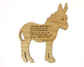 George Orwell Animal Farm Benjamin Quote Laser Cut Etched Wood Donkey ...