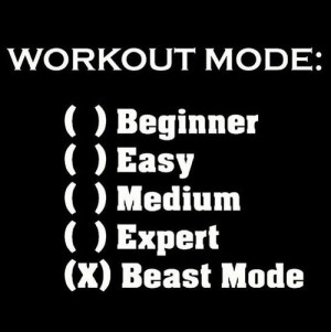 work out mode : beast mode