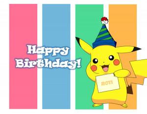 pokemon happy birthday quotes. quotesgram, Birthday card