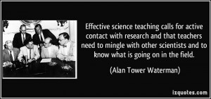 Effective science teaching calls for active contact with research and ...
