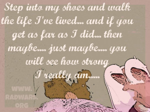 walk in my shoes mile don't judge quote