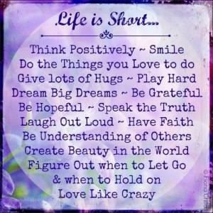 ... smile do the things you love to do give lots of hugs love quote