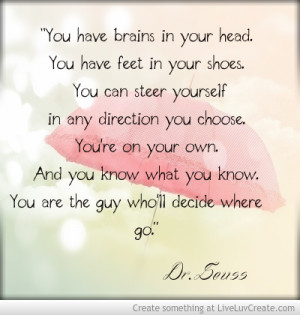 Rhyming Quotes About Being Yourself Dr seuss quote to inspire