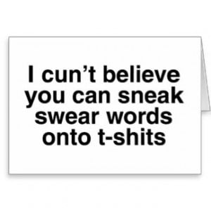 Swear Words Cards & More