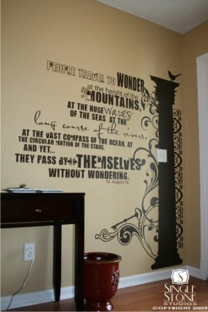 Wall Decal Quote Wonder Large (Free Shipping) - Vinyl Text Wall Words ...