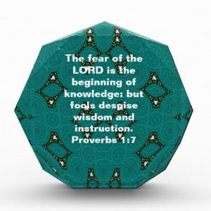 bible_verses_wisdom_quote_saying_proverbs_1_7_award ...