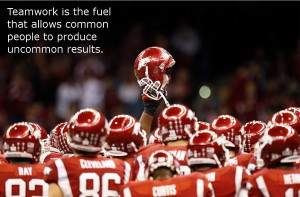 Teamwork Sports Quotes Teamwork is the fuel that