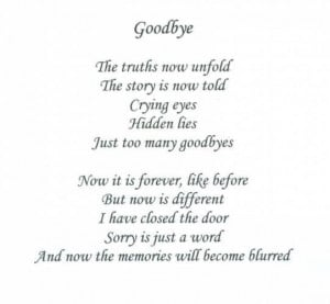 Saying Goodbye To A Loved One Quotes Love quotes saying goodbye
