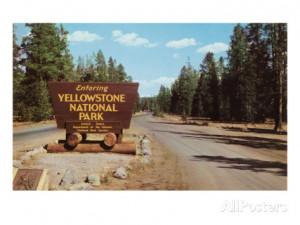 Entering Yellowstone National Park, Montana Art Print