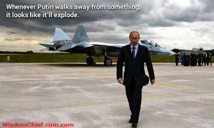 When Vladimir Putin is walking away from something, it looks like it ...