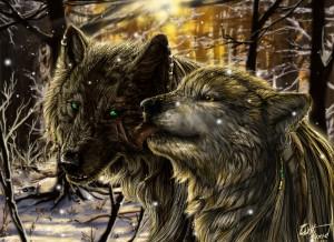 alpha coders art abyss animal wolf wolf love