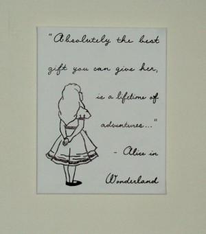... Nursery Art Disney Character Quote Alice in Wonderland Hand Painted