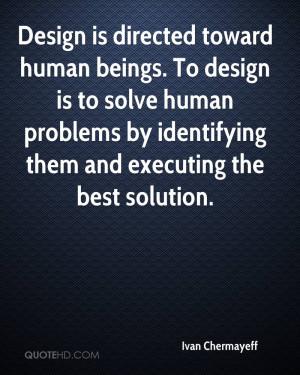 Ivan Chermayeff Design Quotes