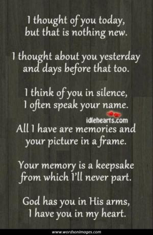 Passed away quote...