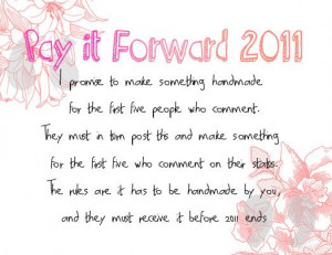 pay+it+forward+quotes | Mad About Pink: Pay it Forward 2011