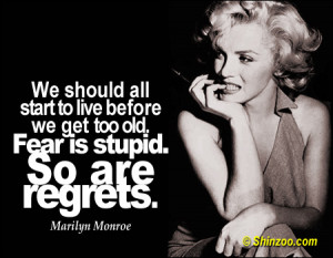 Marilyn Monroe Quotes: Life's Too Short for Regrets