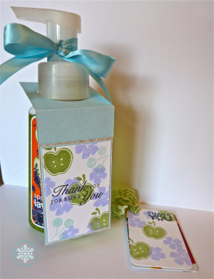 Teacher Gifts: (Bath and Body Works hand soap with attached gift card ...