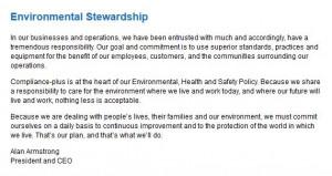 Williams Company on Environmental Stewardship