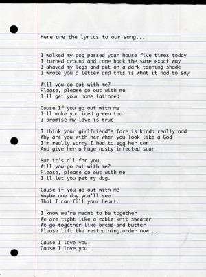 Will You Go Out with Me Poems