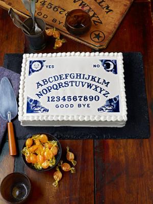 "Let them eat cake…""- Ouija-Board Cake"