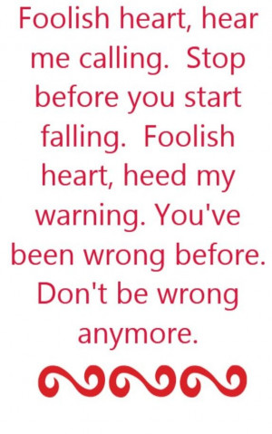Steve Perry - Foolish Heart - song lyrics, song quotes, songs, music ...