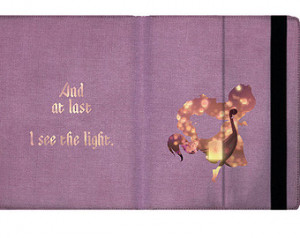 Rapunzel I See the Light Quote - iPad 2 3 4 Mini Flip Case Cover in ...