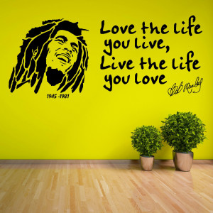 Details about BOB MARLEY Love The Life You Live 1945 1981 VINYL WALL ...