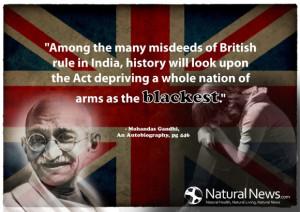 Gun Control Gandhi Quote SOURCE NaturalNews,com