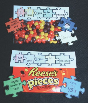 Love You To Pieces Reeses Gift Baggies