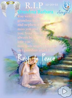 Rest In Peace Great Grandma Quotes R.i.p grandma barbara