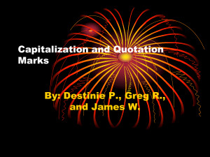 Capitalization and Quotation Marks by morgossi7a2