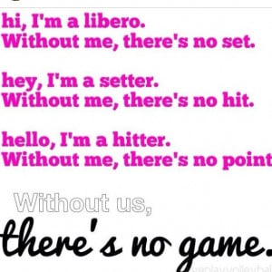 Middle Hitter, Volleyballl Itse What I Do, Volleyball Quotes ...