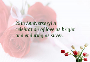Silver wedding anniversary quotes