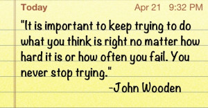 Love John Wooden quotes