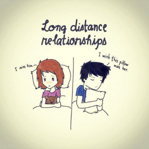 Long Distance Relationships - Missing You Quote