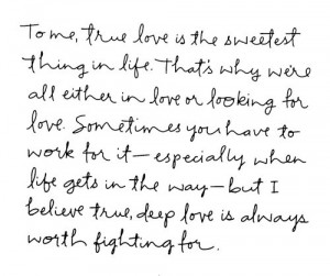 Deep Love Is Always Worth Fighting For