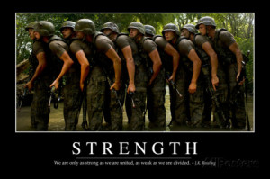 Strength: Inspirational Quote and Motivational Poster Photographic ...