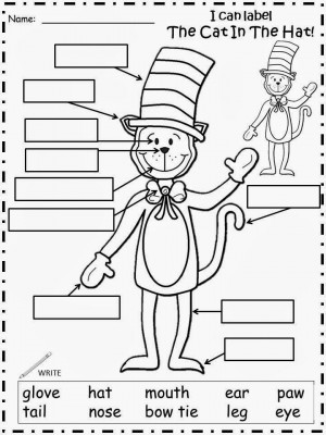 The Cat In The Hat Labeling Sheet