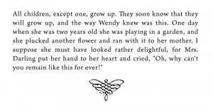 Growing Up Quotes Peter Pan