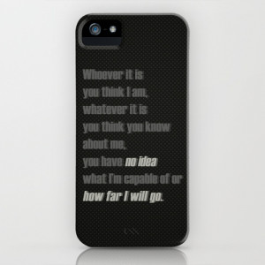 Castle (TV Show) Quotes | Kate Beckett iPhone & iPod Case