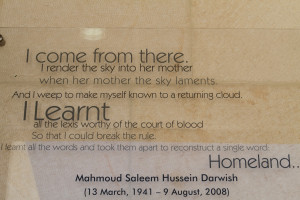 Mahmoud Darwish was a Palestinian poet and author who won numerous ...