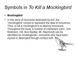 Symbols in To Kill a Mockingbird: Innoc Reference