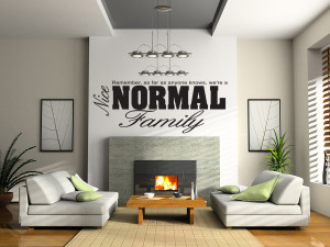 NICE-NORMAL-FAMILY-Wall-Quote-Sticker-Art-Removable-Vinyl-Decal ...