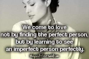 Angelina jolie, quotes, sayings, love, perfect, person, famous