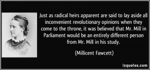 More Millicent Fawcett Quotes
