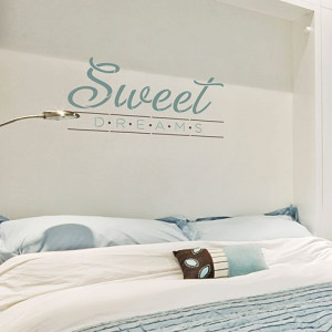 Sweet Dreams Quote Wall Stencil