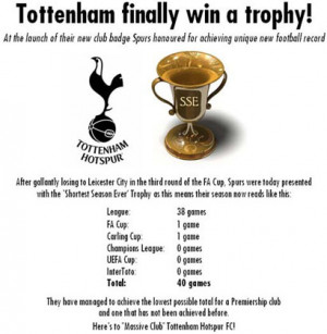 Re: Let laugh at Tottenham Hostpur thread