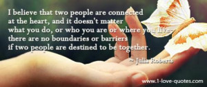 ... no boundaries or barriers if two people are destined to be together