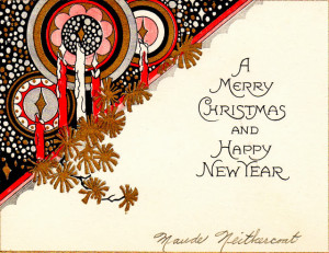 art deco christmas cards